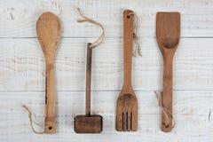 Equipo de madera de la cocina Imagen de archivo libre de regalías