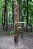 Equipo de madera de los artes marciales imagen de archivo libre de regalías