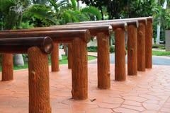 Equipo de madera del ejercicio Fotos de archivo