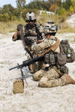 Equipo de metralleta de los guardabosques del Ejército de los EE. UU. Foto de archivo libre de regalías