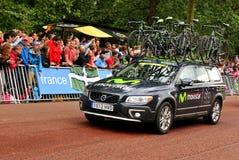 Equipo de Movistar en el Tour de France Imagen de archivo libre de regalías