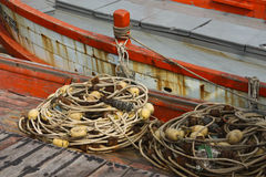 Equipo de pesca Imagenes de archivo
