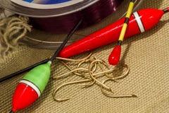 Equipo de pesca imagen de archivo libre de regalías