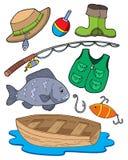 Equipo de pesca Foto de archivo libre de regalías
