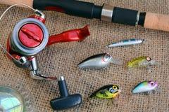 Equipo de pesca Fotografía de archivo