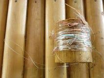 Equipo de pesca tradicional de los pescadores del Balinese imagen de archivo libre de regalías