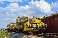Equipo de poder ferroviario de la reparación Imágenes de archivo libres de regalías