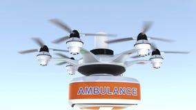 Equipo de primeros auxilios del abejón que lleva para el concepto de la asistencia médica de la emergencia