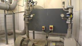 Equipo de producción del biogás del tratamiento de aguas almacen de video