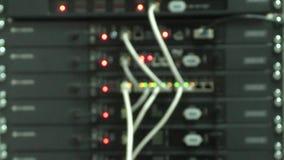 Equipo de red de trabajo almacen de metraje de vídeo