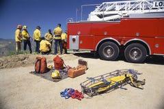 Equipo de rescate foto de archivo libre de regalías