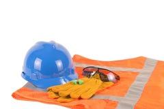 Equipo de seguridad de construcción Foto de archivo libre de regalías