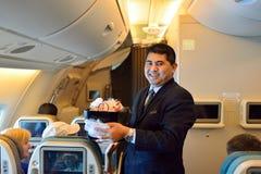 Equipo de Singapore Airlines Fotografía de archivo libre de regalías