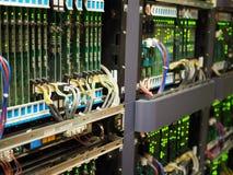 Equipo de telecomunicaciones Foto de archivo libre de regalías