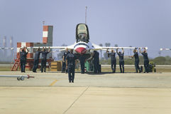 Equipo de tierra de la fuerza aérea Foto de archivo