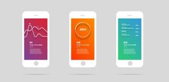 Equipo de Ui, concepto app móvil, Infographic colorido Vector el ejemplo, puede ilustrar un trabajo de la estrategia, del flujo d ilustración del vector
