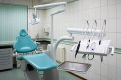 Equipo de una cabina stomatologic imagen de archivo libre de regalías