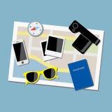 Equipo de viaje Foto de archivo libre de regalías