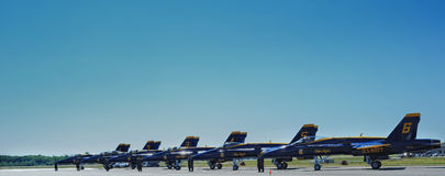 Equipo de vuelo de los ángeles azules Imagen de archivo libre de regalías