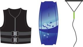 Equipo de Wakeboard Fotografía de archivo libre de regalías