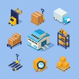 Equipo de Warehouse del vector Foto de archivo