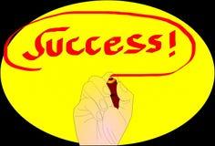 Equipo del éxito empresarial de la escritura del hombre Imagen de archivo libre de regalías