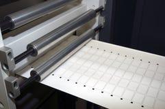 Equipo del acabamiento de la impresión para las escrituras de la etiqueta Imagen de archivo