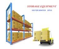 Equipo del almacenaje. Imagenes de archivo