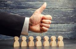 Equipo del alto rendimiento El concepto de trabajo en equipo y confiar en el éxito de hombres de negocios El líder está satisfech foto de archivo libre de regalías