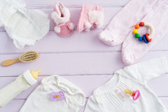 Equipo del bebé Foto de archivo libre de regalías