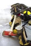 Equipo del bombero Foto de archivo libre de regalías