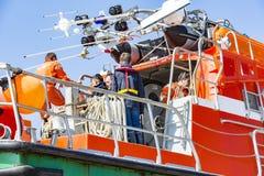 Equipo del bote de salvamento de la vida foto de archivo libre de regalías