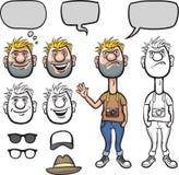 Equipo del carácter del inconformista de la historieta libre illustration