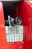 Equipo del coche de bomberos Fotografía de archivo libre de regalías