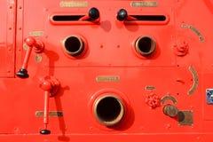 Equipo del coche de los bomberos Imagen de archivo libre de regalías