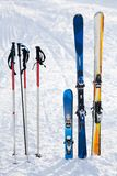 Equipo del esquí imagenes de archivo
