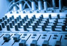 Equipo del estudio de los sonidos Imagenes de archivo