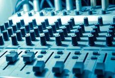 Equipo del estudio de los sonidos Imagen de archivo libre de regalías