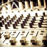 Equipo del estudio de los sonidos Foto de archivo
