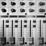 Equipo del estudio de los sonidos Imágenes de archivo libres de regalías