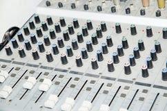 Equipo del estudio de los sonidos Fotografía de archivo libre de regalías