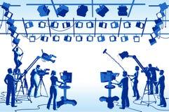Equipo del estudio del canal de televisión
