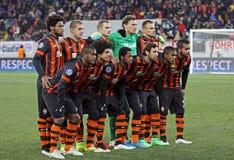 Equipo del FC Shakhtar Donetsk Fotos de archivo