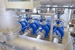 Equipo del filtro de la purificación del agua Imágenes de archivo libres de regalías