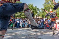 Equipo del folclore en Bursa Foto de archivo libre de regalías