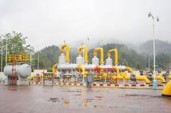 Equipo del gaseoducto foto de archivo