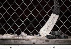 Equipo del hockey contra a Foto de archivo