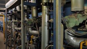 Equipo del horno industrial almacen de metraje de vídeo
