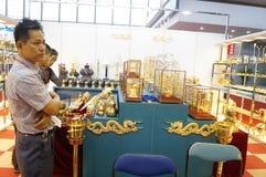 Equipo del hotel internacional de Shenzhen y exposición de las fuentes, en China Foto de archivo libre de regalías