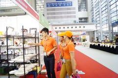Equipo del hotel internacional de Shenzhen y exposición de las fuentes, en China Fotografía de archivo libre de regalías